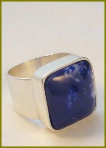 Herenring Lapis lazuli
